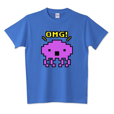 OMG!エイリアンTシャツ ミディアムブルー