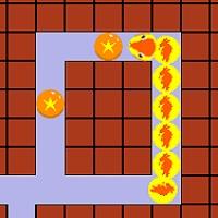 餌を全部食べるパズルゲーム「醜い蛇の子」のサムネイル